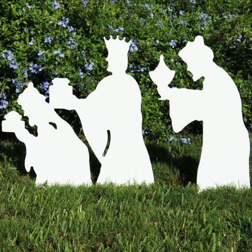 Shepherd with sheep nativity figures christmas outdoor for Outdoor christmas figures