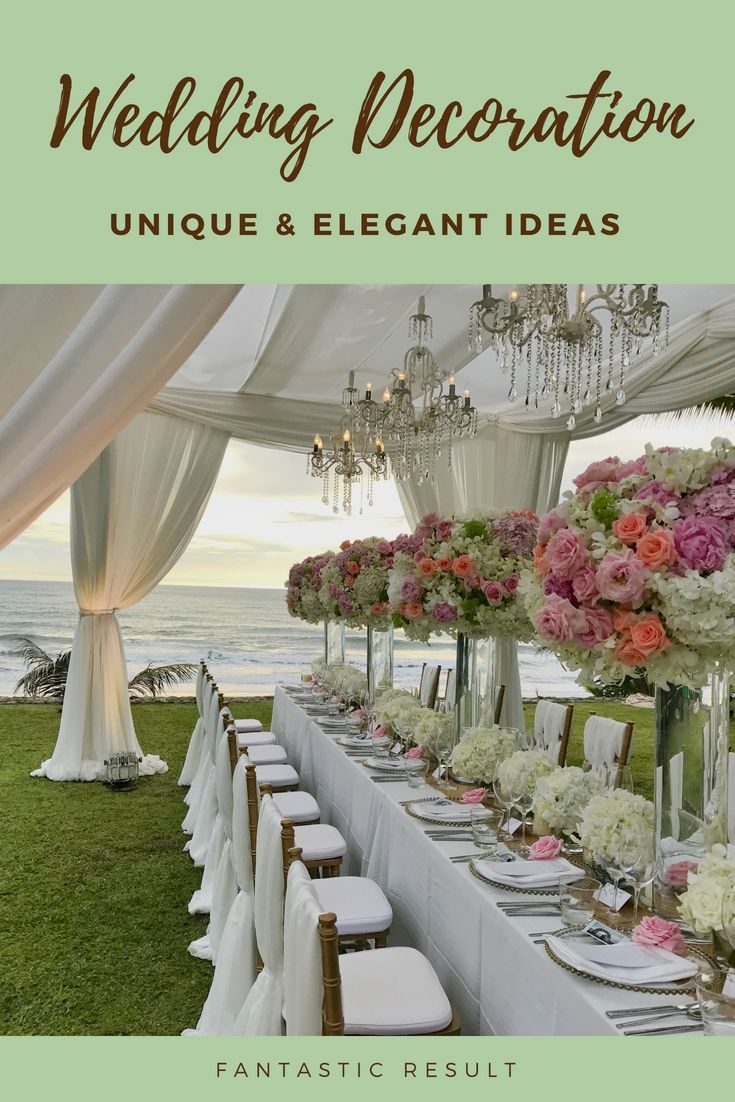 Wedding dinner decoration ideas  Revamp A Personus Wedding Dinner Using These Up To Date Budget