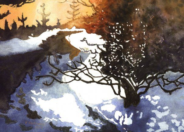 Watercolor By Heike M Hartmann Not For Sale Reference Photo Out Of The Book Fill Your Watercolors With Light And Color By Art Painting Art Painting Drawing