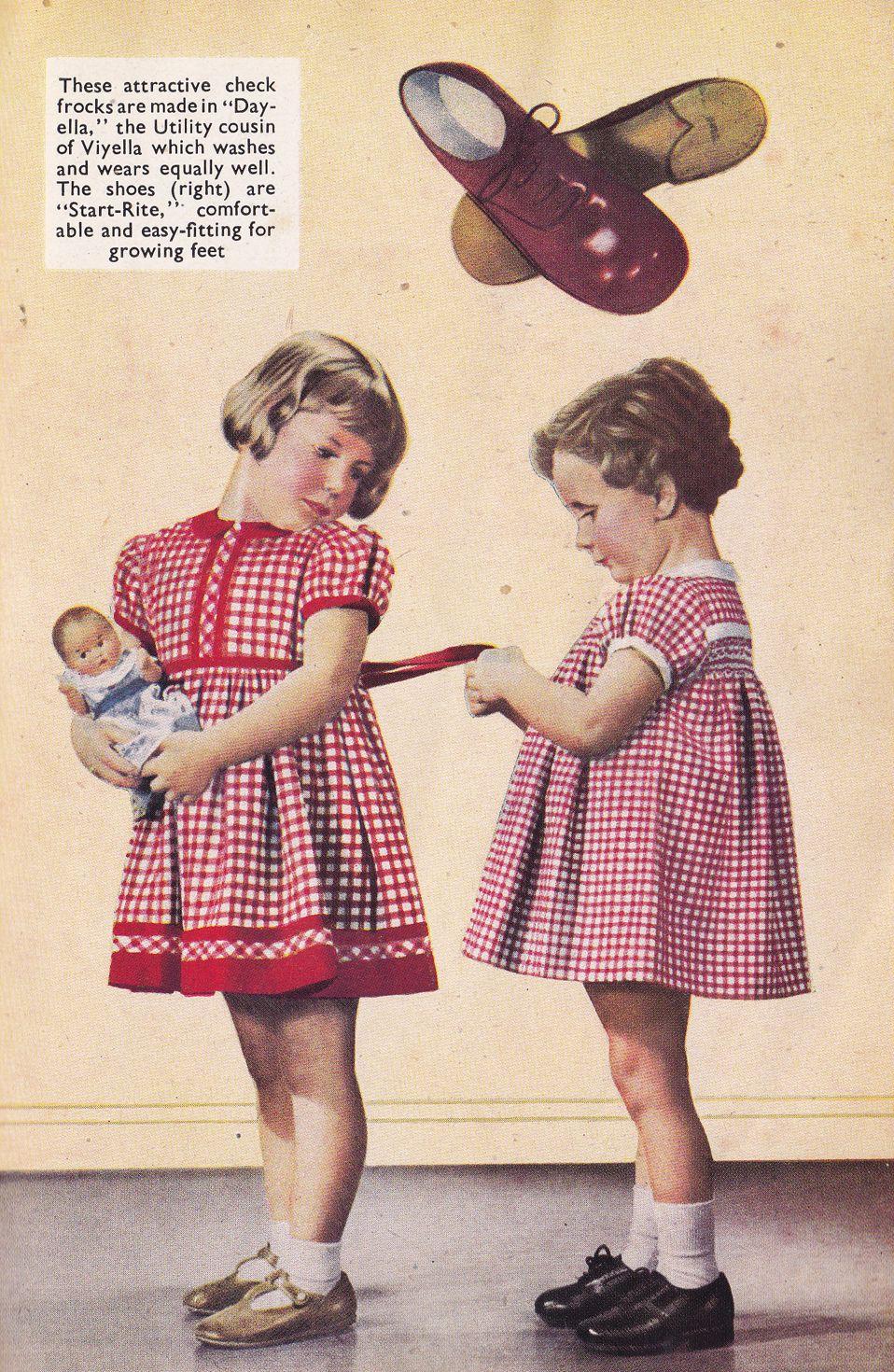 1940s Children\'s Utility dresses | fashion in the 40s | Pinterest