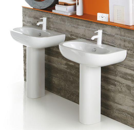 Piatti Doccia Ceramica Simas.El05 Cn200 E Line Ceramica Simas Washbasin 65 With Single Tap Hole