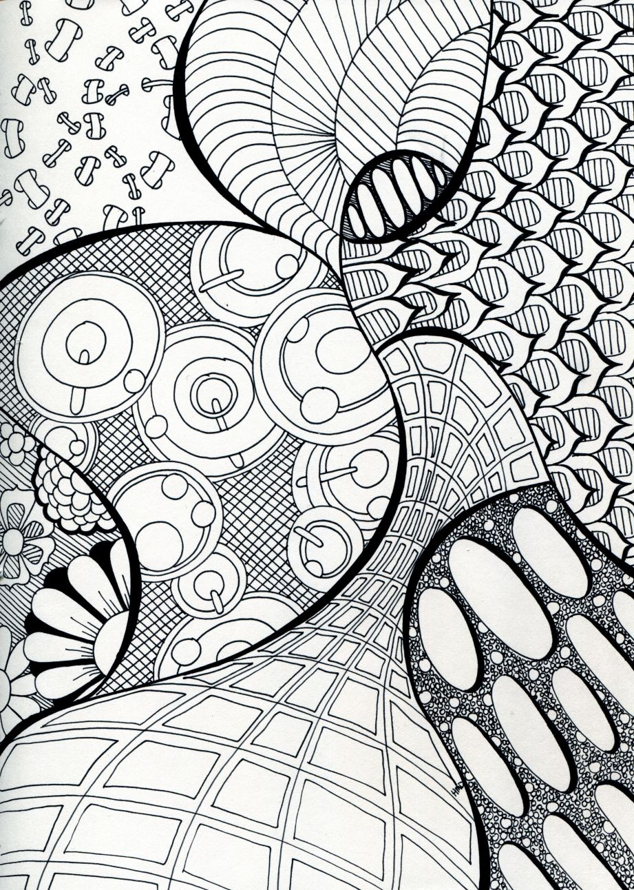 Doodle Art Pattern Illustration Black And White Pattern Art