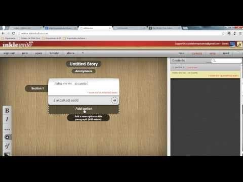 Inkle Writer. Creatividad y escritura en las aulas. - YouTube