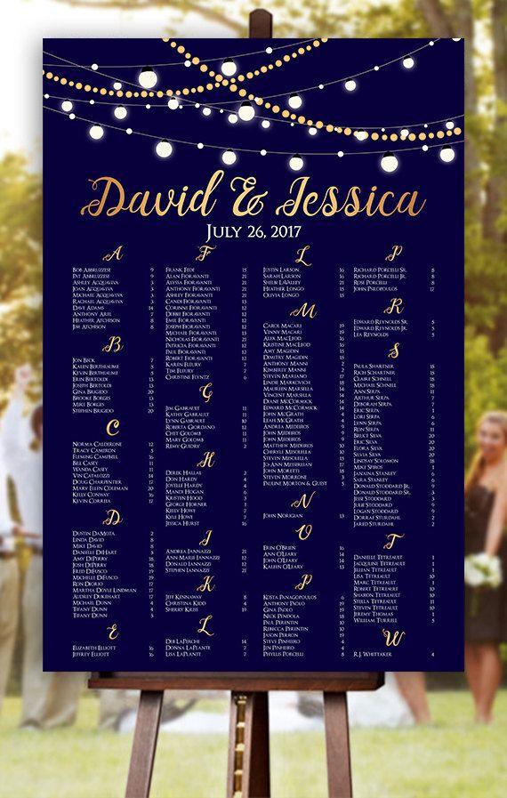 Wedding Seating Chart - RUSH SERVICE - Fairy Light Wedding Seating - printable seating charts