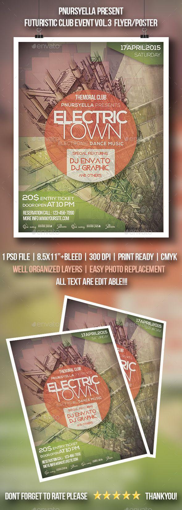 Futuristic Club Event  Flyer / Poster Vol.3