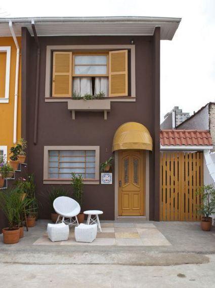 Fachadas de casas de 2 pisos y 5 metros de frente for Casas rectangulares