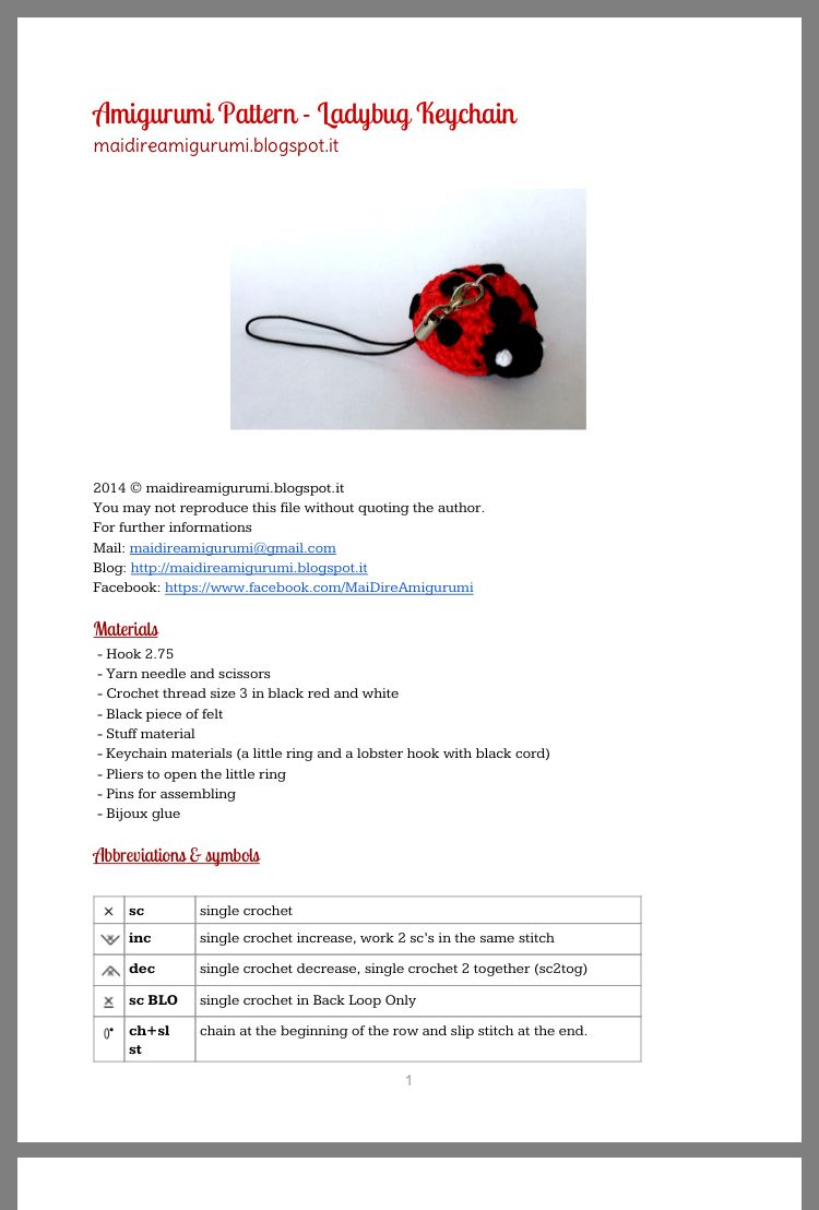 Crochet ladybug - Free Pattern: Quick and Easy | Crochet ladybug ... | 1108x750