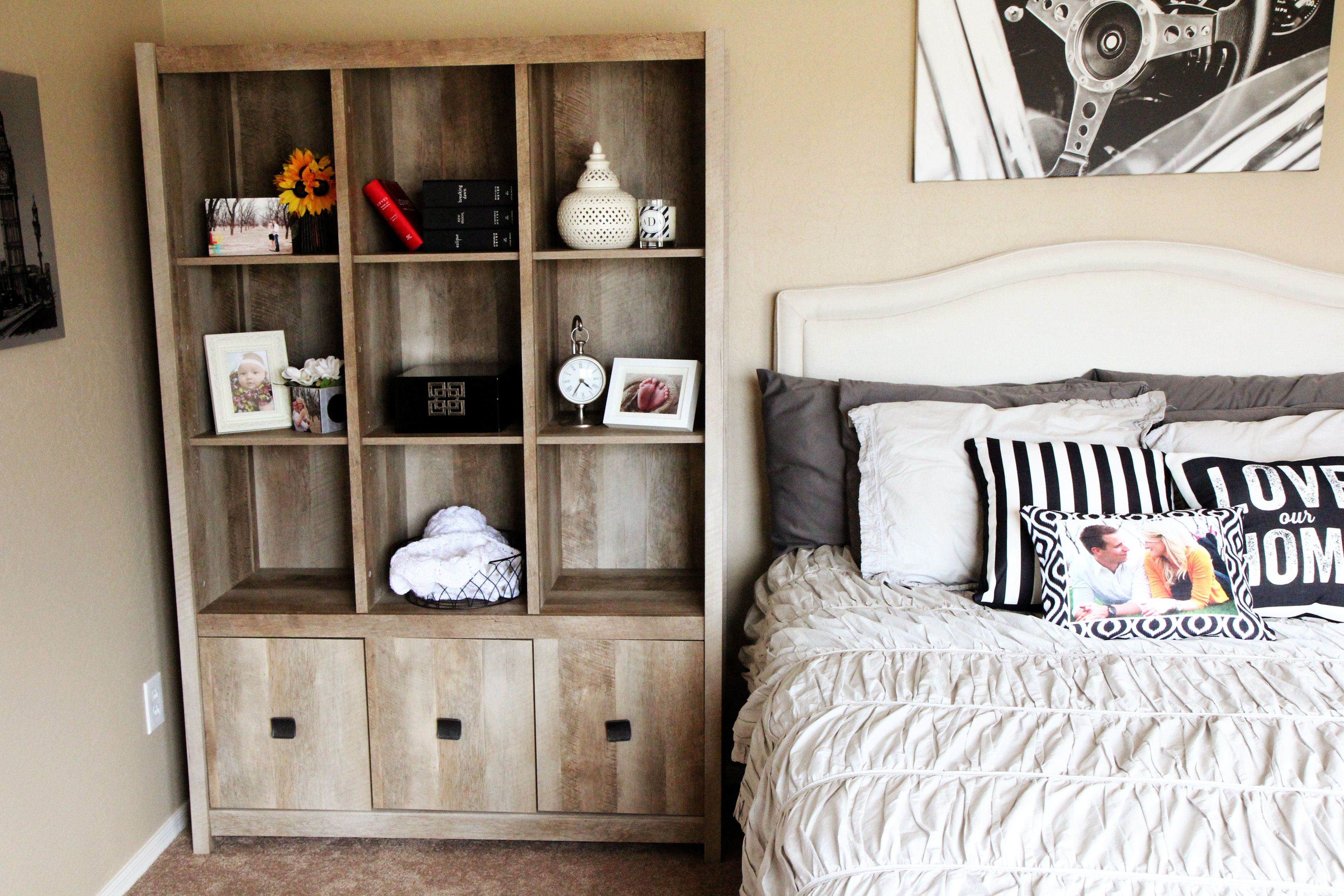 All Your Guests Necessities From Home At Their Finger Tips Sauder Furniture Furniture Sauder Woodworking