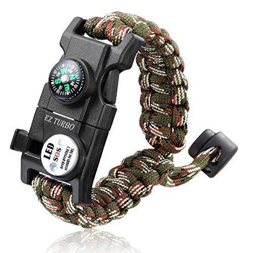 Bracelets Survival Emergency Bracelet Camping Hiking Tool Paracord Cord