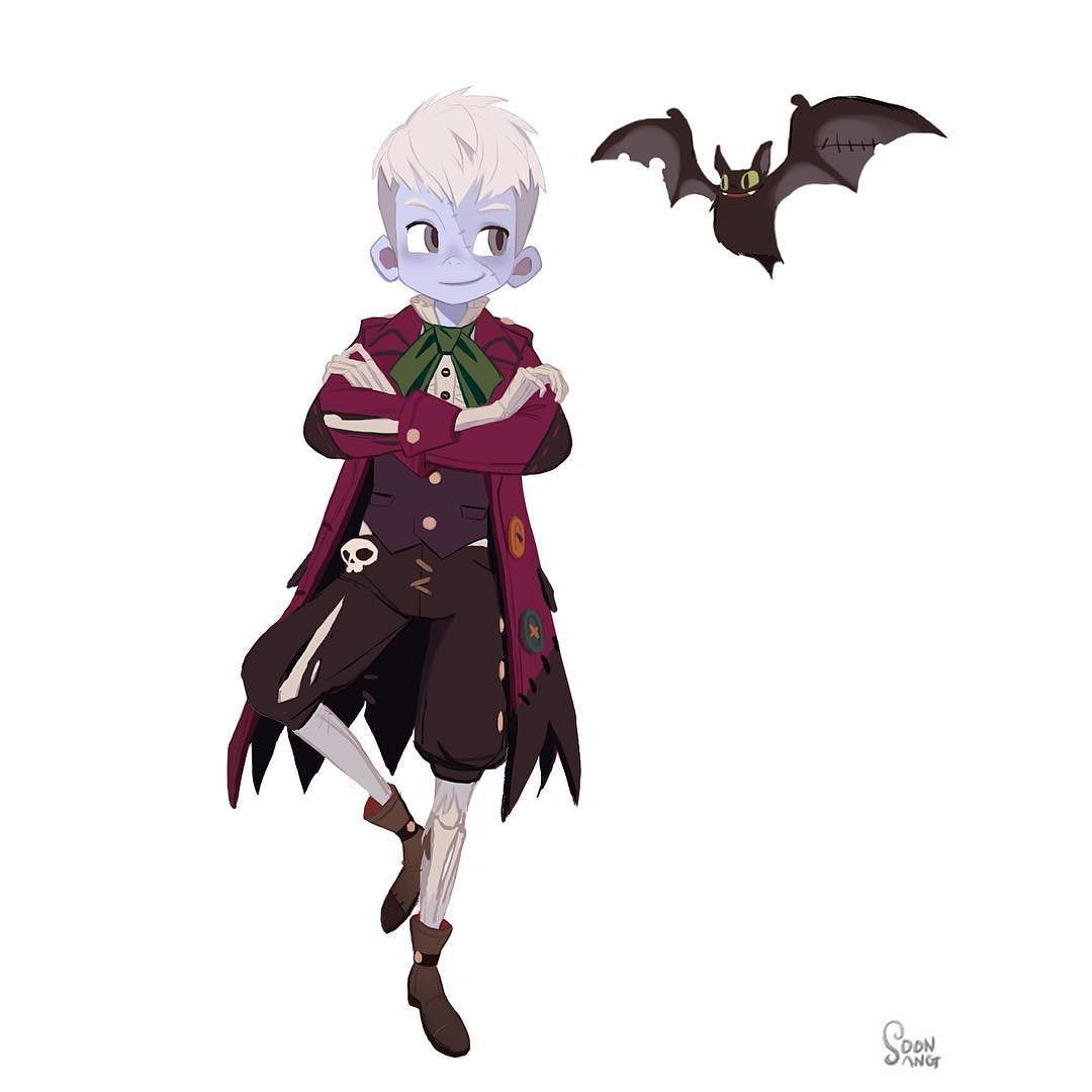 """The sea king contest - ghost ship team """"Qura & betto"""" #soonsangworks #art #animation #illustration #digitalart #instaart #instadaily #concepart #character #cartoon #comic #skull #halloween #undead #boy #ghostship #pirate #bat by hong_soonsang"""