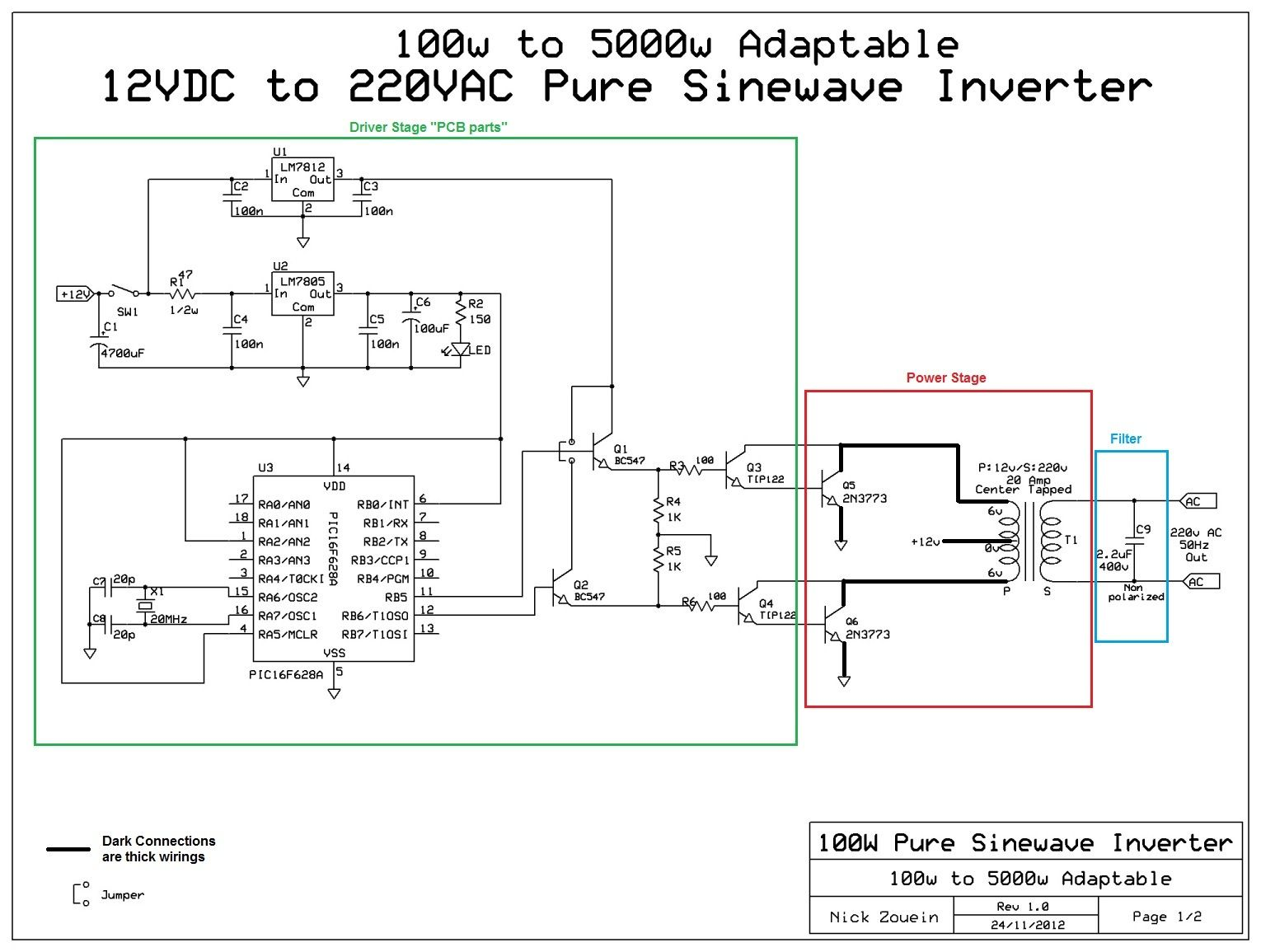 Adaptable 12vdc 220vac Pure Sinewave Inverter Electronics 12v Dc Converter Circuit Moreover 110 Ac To Car Charger
