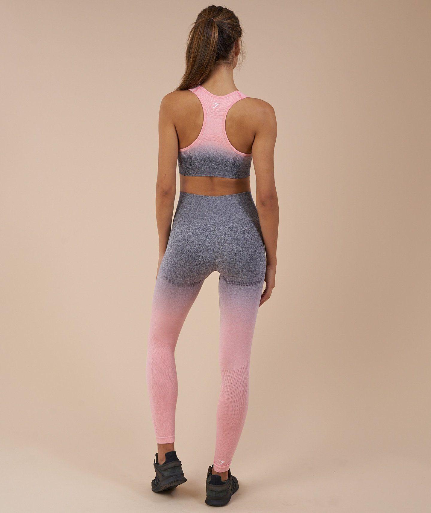 e9dda3b58b741e Gymshark Ombre Seamless Leggings - Peach Pink/Charcoal 1 | Fashion ...