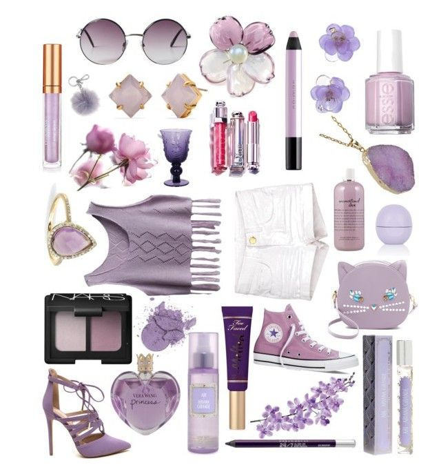 lavender dream by wegenweil on Polyvore featuring polyvore fashion style Converse Patricia Chang Chanel Stella & Dot Helix & Felix Monki Michael Kors NARS Cosmetics Too Faced Cosmetics Elizabeth Arden shu uemura Urban Decay Vera Wang Topshop philosophy Essie Laura Cole Christian Dior clothing