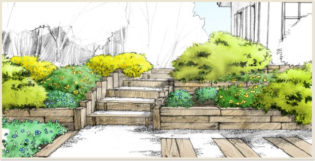 les pentes de mon jardin jardins en pente. Black Bedroom Furniture Sets. Home Design Ideas