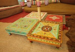 Pretty Indian tables for your Bell Tent