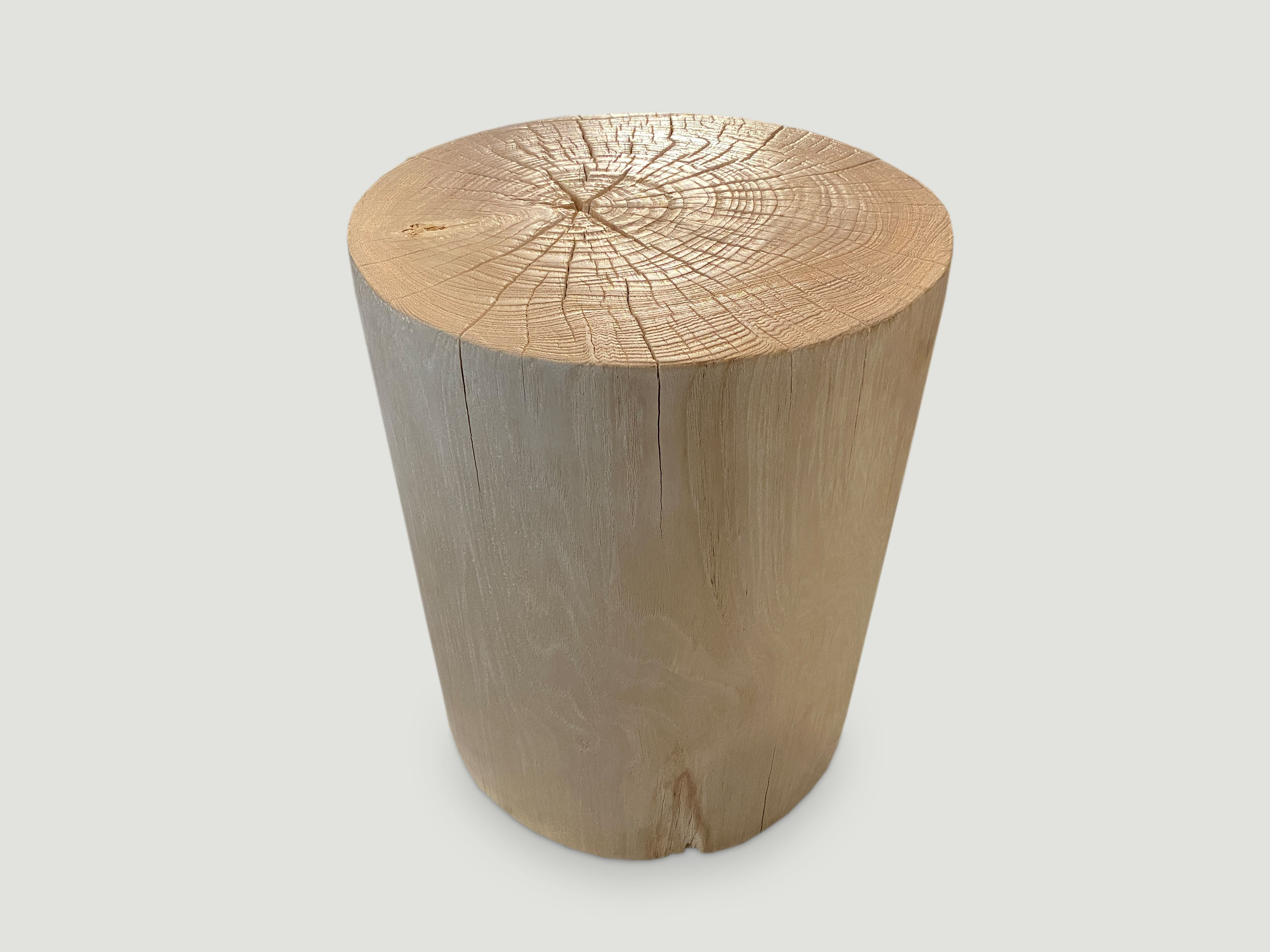 Cylinder Bleached Side Table Or Stool R4t Andrianna Shamaris In