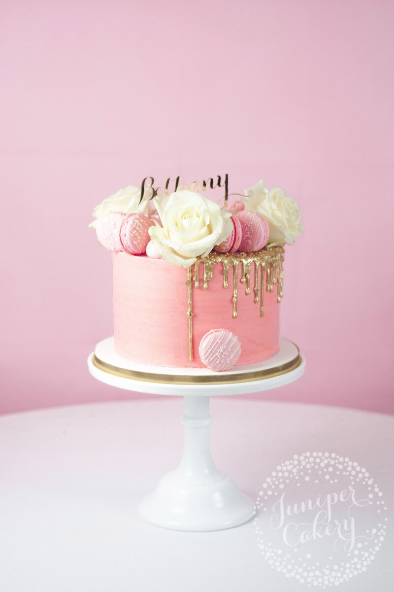 Fine Pretty In Pink Gold Sequin Drip Cake Elegant Birthday Cakes Funny Birthday Cards Online Overcheapnameinfo