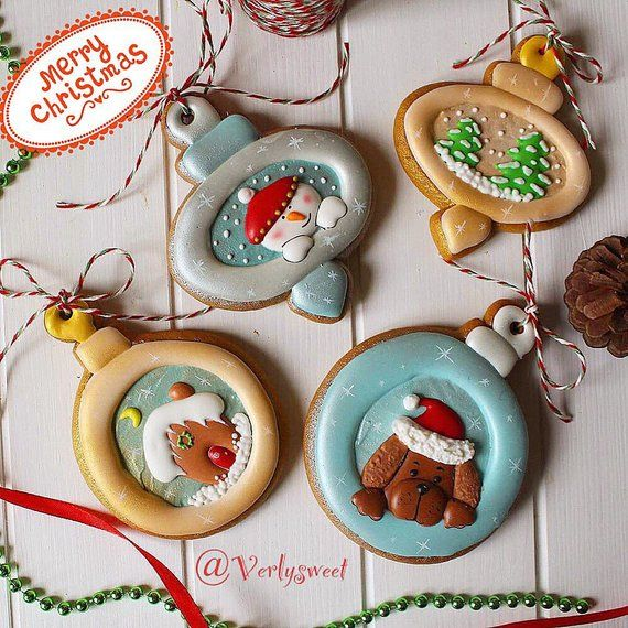 Christmas tree decorations cookies (gingerbread ) in 2018 Products