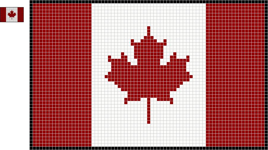 Canadian Flag By Alien Exile Deviantart Com On Deviantart Canadian Flag Cross Stitch Patterns Cross Stitch