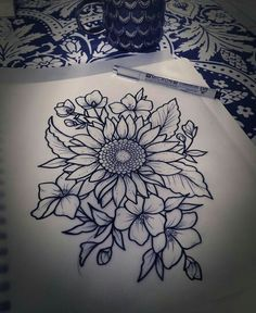 Resultado De Imagen De Girasol Tattoo Tumblr Dibujo Tatuajes De