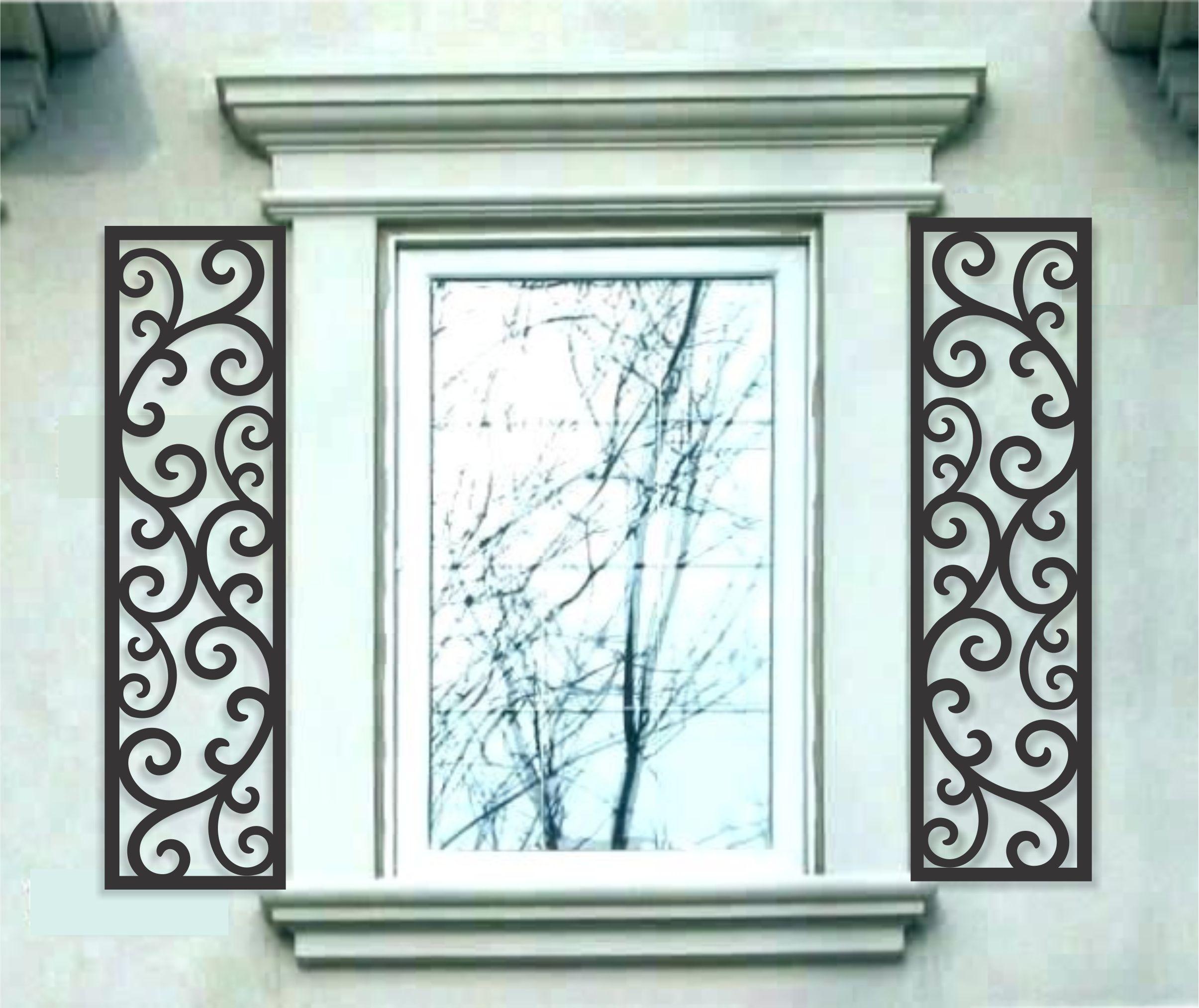 Beautiful Faux Wrought Iron Shutters   Faux iron window ...