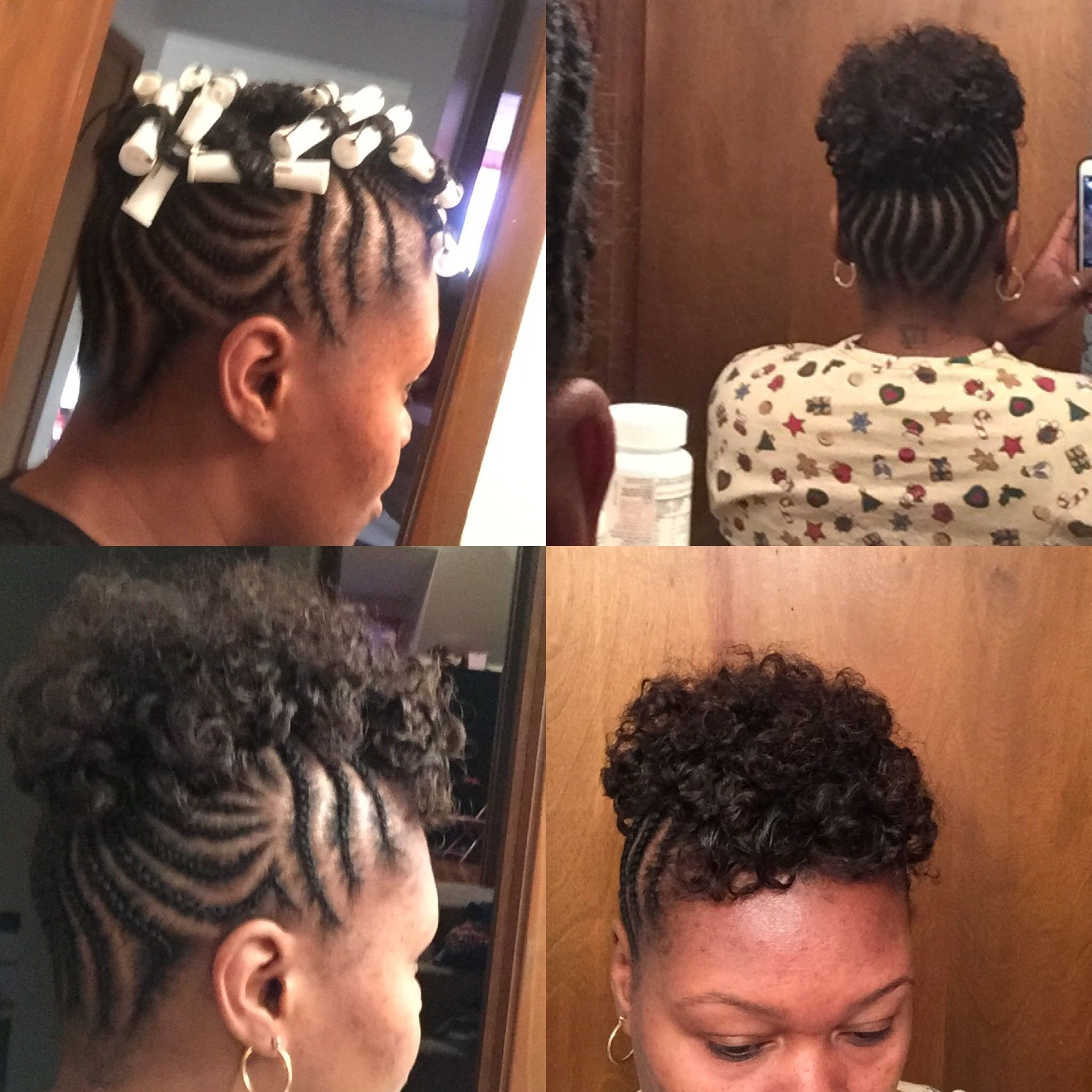 Protective style for transitioning hair. Braided updo with ...