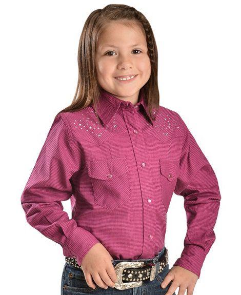 edf34f15 Cowgirl Hardware Scatter Horse Rhinestone Western Shirt - 5-16 ...