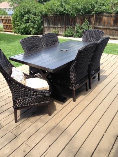 Hampton Bay Patio Furniture Warranty Canada: Hampton Bay Woodbury 7-Piece Wicker Outdoor Patio Dining