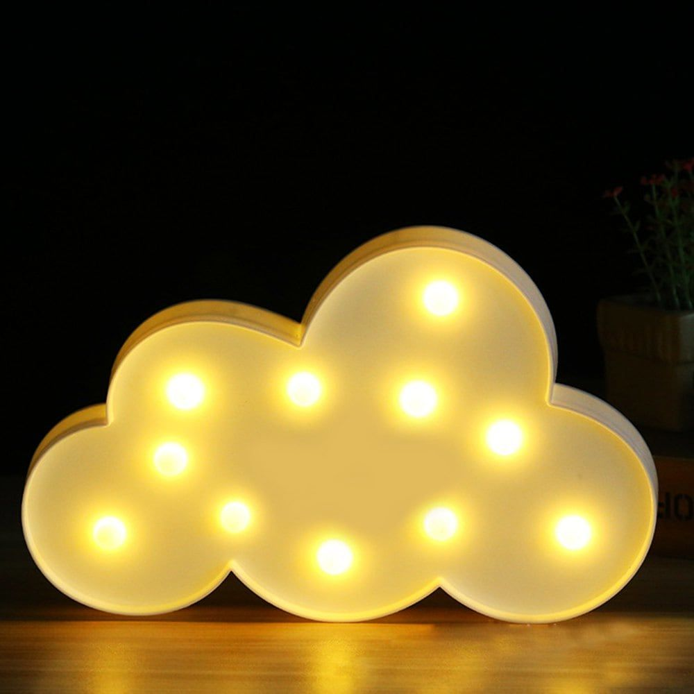 BRELONG 3D Clouds Warm White Decoration Night Light for Kids Room ...