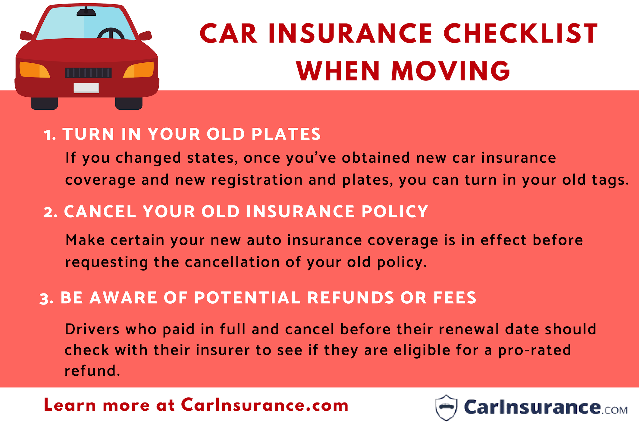 Will My Insurance Go Up If I Move Car Insurance Checklist Insurance