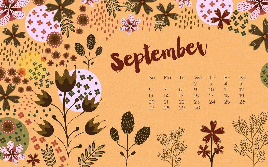 September 2018 Calendar Hd Wallpaper Desktop Calendar Wall Calendar Wallpaper