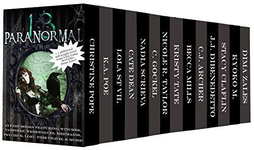 Free today - The Paranormal 13 (13 free books featuring witches, vampires, werewolves, mermaids, psychics, Loki, time travel and more!): Boxed Set Including a 14th free novel!, http://www.amazon.com/dp/B00OGKNBX8/ref=cm_sw_r_pi_awdl_65w4ub03EKG2G