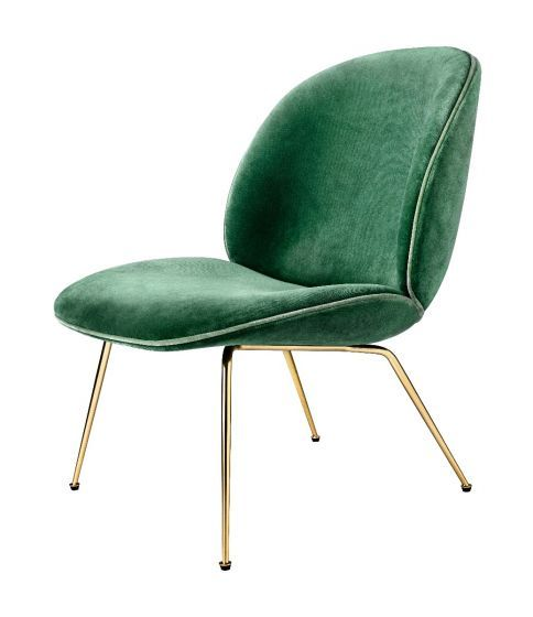 lounge stol Beetle Lounge Stol Velour/Messing | INTERIOR | Pinterest | Chair  lounge stol