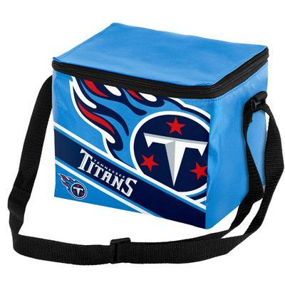 Forever Collectibles 6 Can Big Logo Stripe Softsided Cooler NFL Team: Tennessee Titans