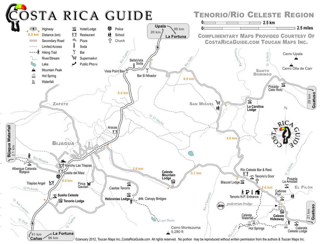 rio celeste costa rica map Pin By Katie Patterson On Pura Vida Costa Rica Map Costa Rica rio celeste costa rica map