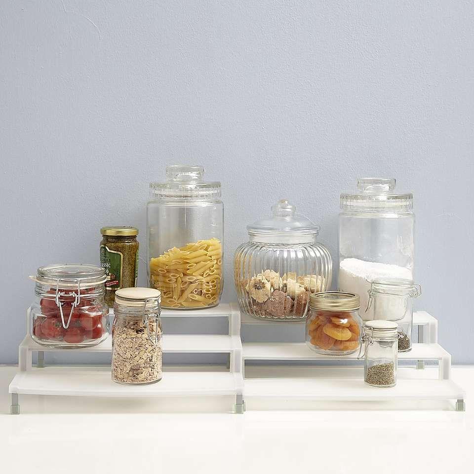 Cookshop Pair of 3-Tier Expandable Cupboard Organisers | Dunelm ...