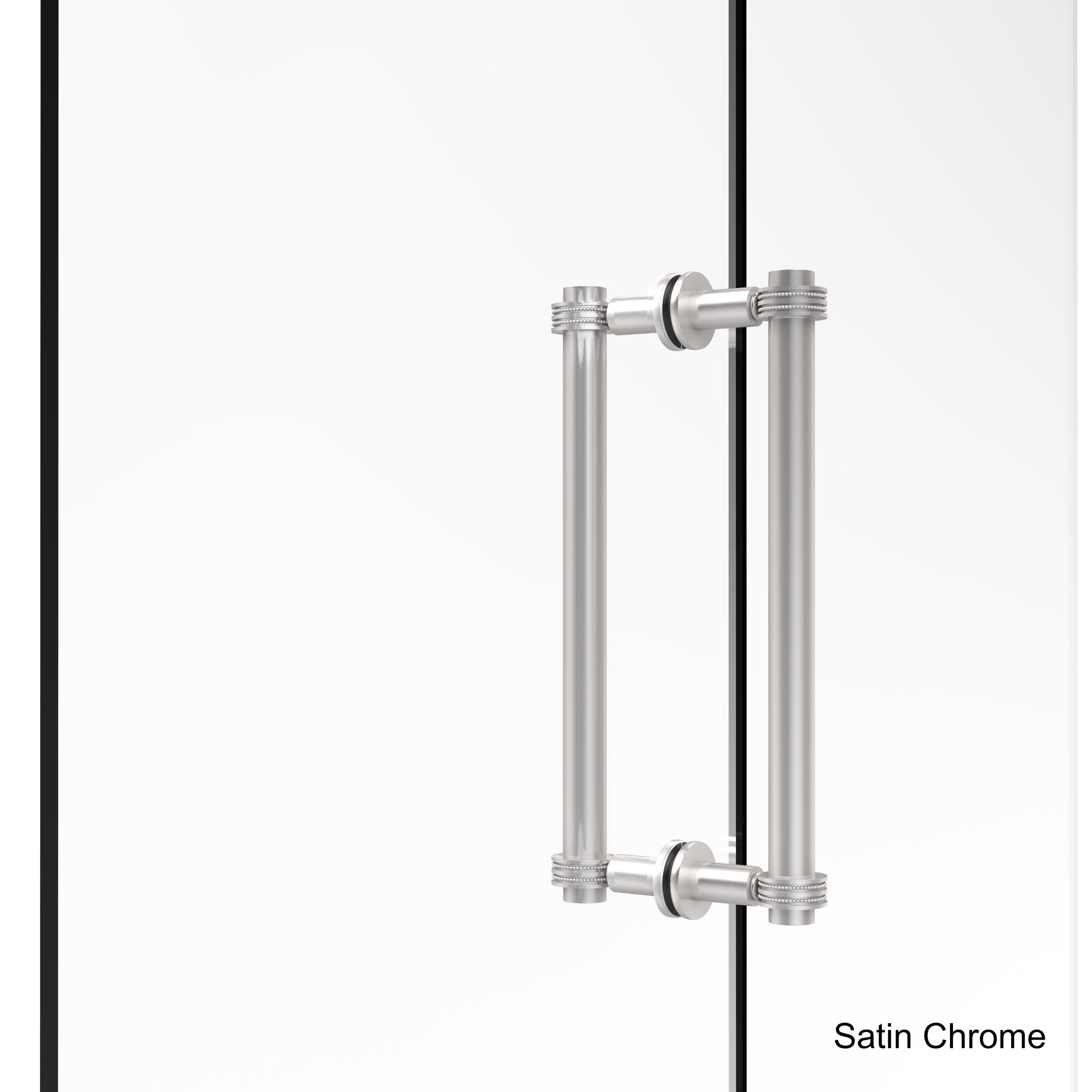 Allied Brass 12 Inch Contemporary Back To Back Shower Door Pull With