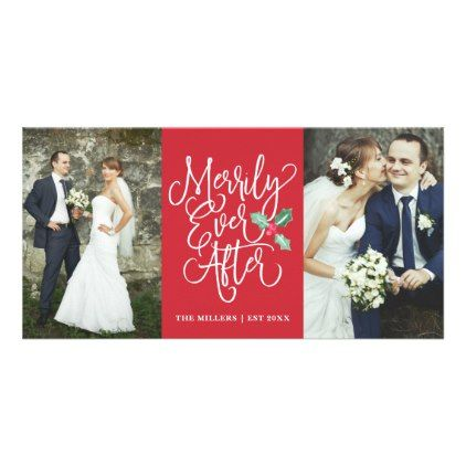 Merrily Ever After Wedding Holiday 2 Photo Red Card