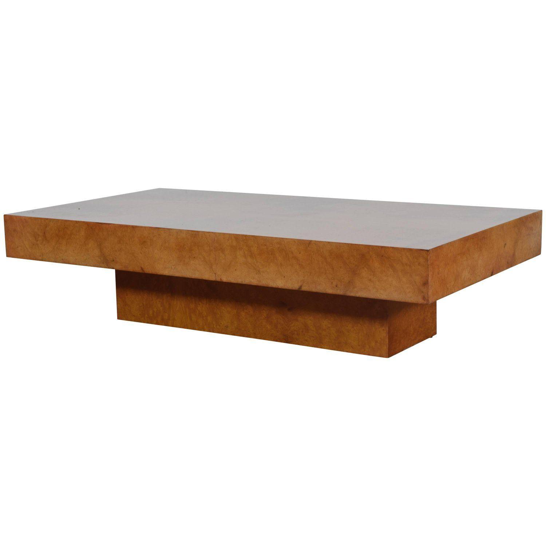 Italian Burl Walnut Veneer Modern Low Coffee Table Coffee Table Low Coffee Table Coffee Tables For Sale [ 1500 x 1500 Pixel ]