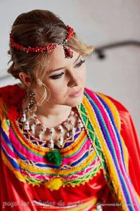 Kabyle Berber Algeria Where The Beauty Located Folk Fashion Traditional Dresses Traditional Outfits