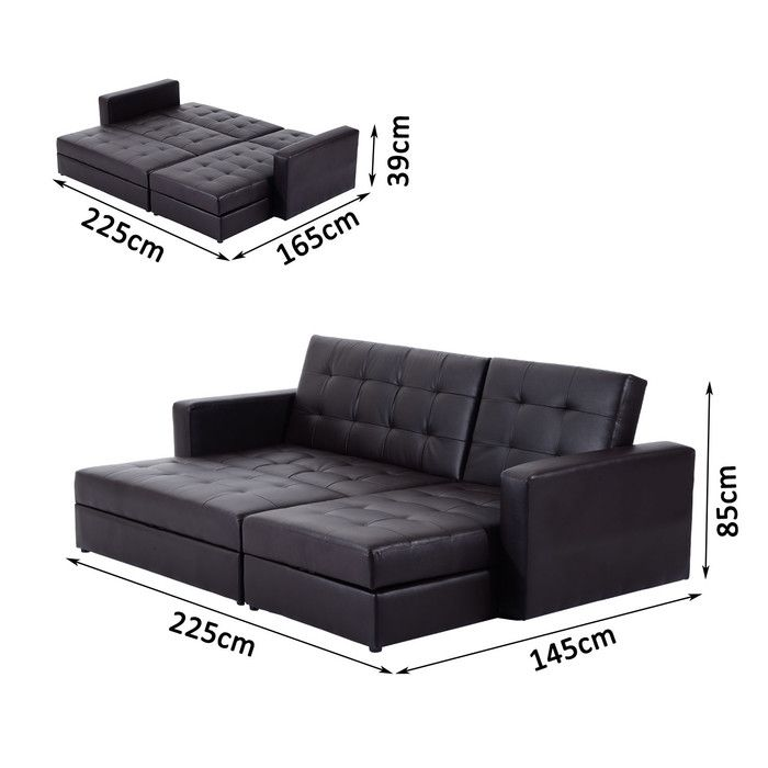 Tiara 3 Seater Fold Out Sofa Bed Black Sofa Sofa Couch Bed Sofa Bed