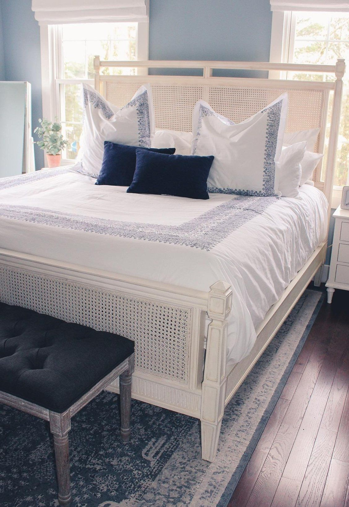 Marion French Cane Bed Frontgate in 2020 White rattan