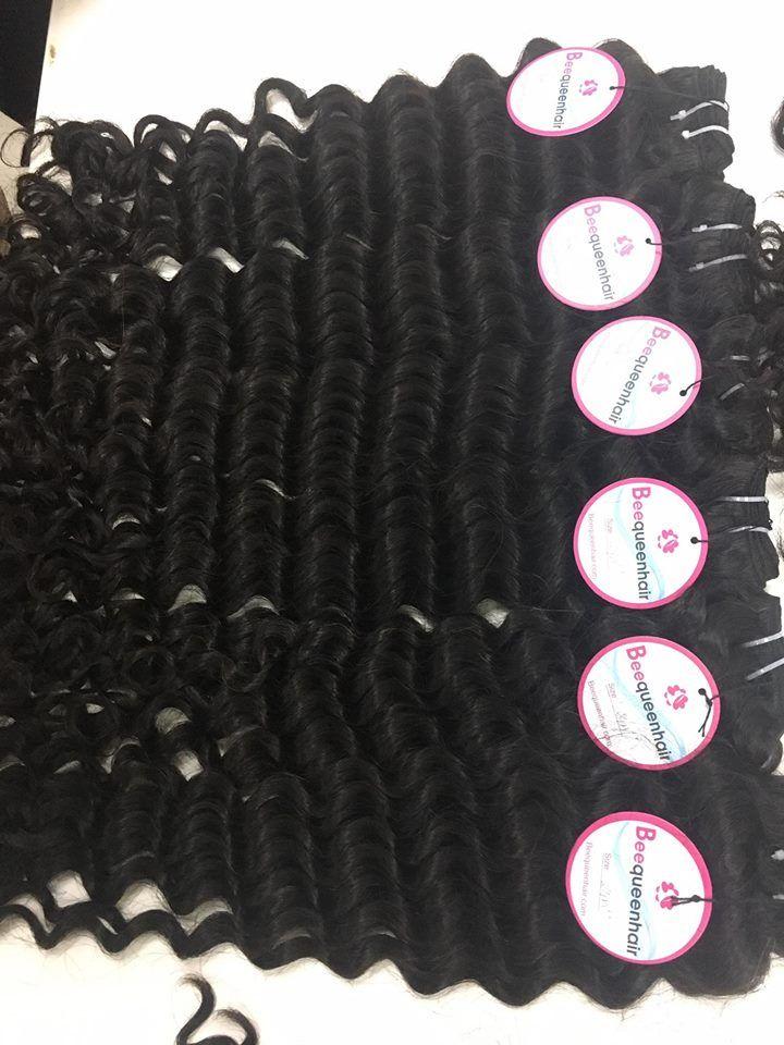 Vietnamese Hair Double Drawn Machine Weft Color Black Wavy Hair
