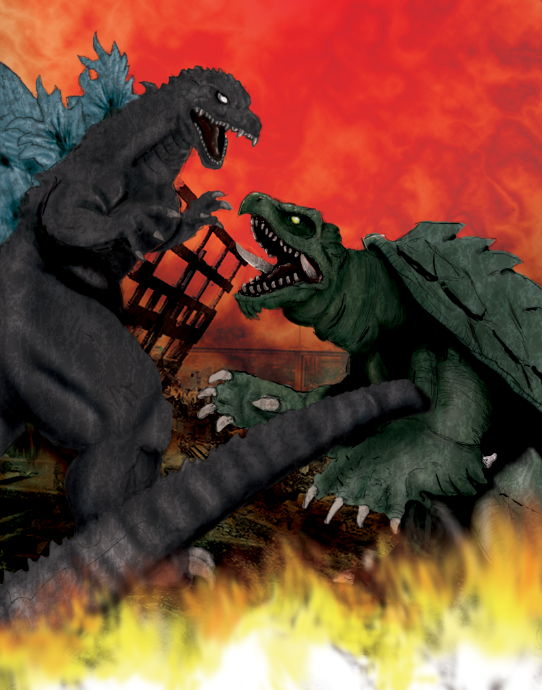Godzilla vs. Gamera.....yeah this fight would NEVER end