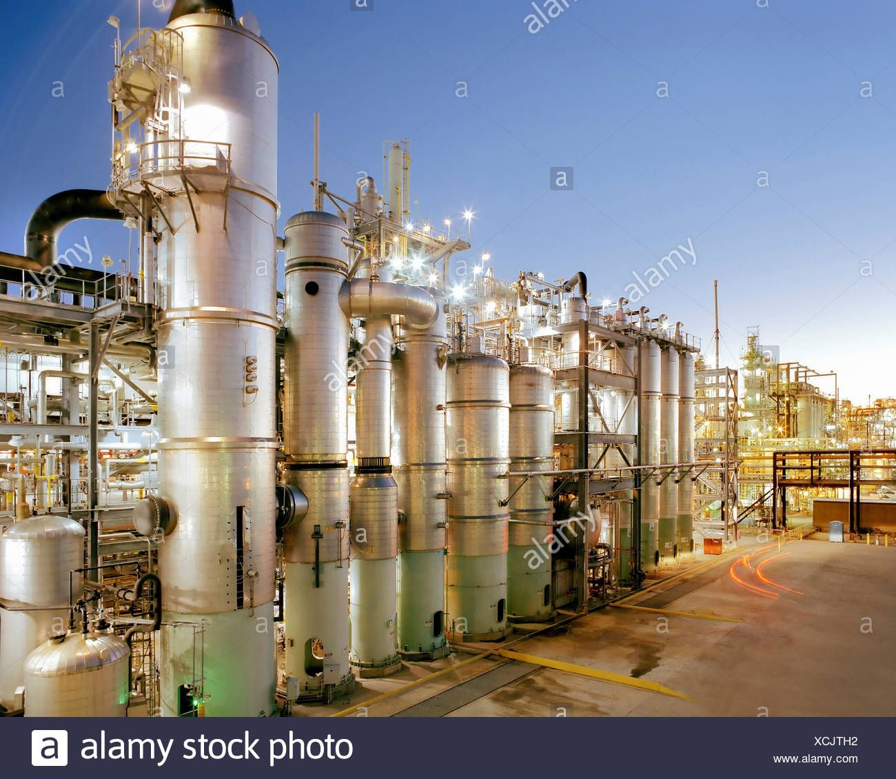 A Large Bayer Chemical Facility at Baytown, Texas Stock