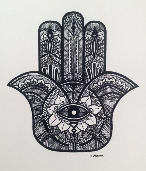 It Was Strongly Influenced By That Other Hamsa Drawing That Has Been  Floating Around Tumblr As Of Late. ^