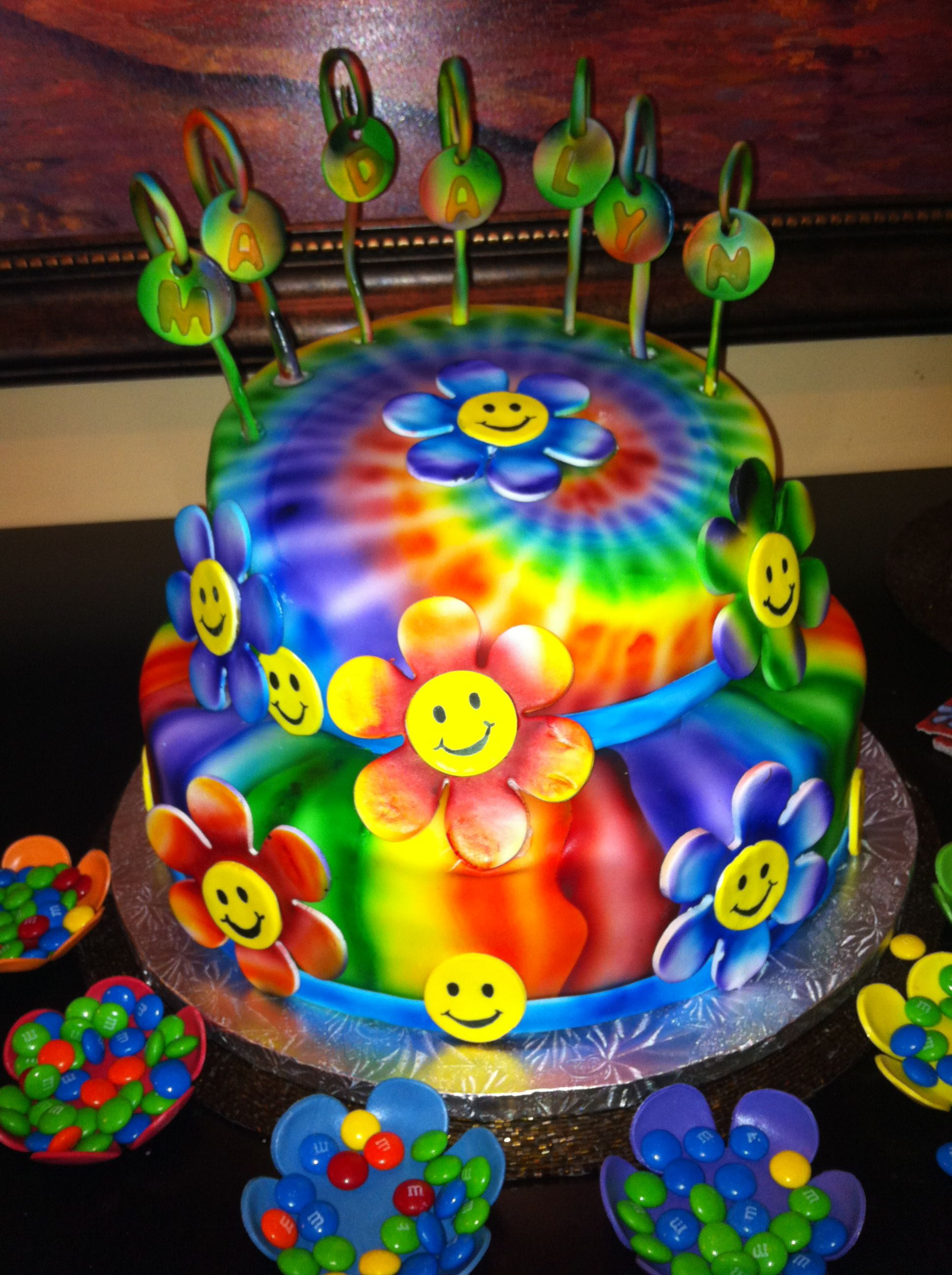 Airbrushed Birthday Cake By Sue