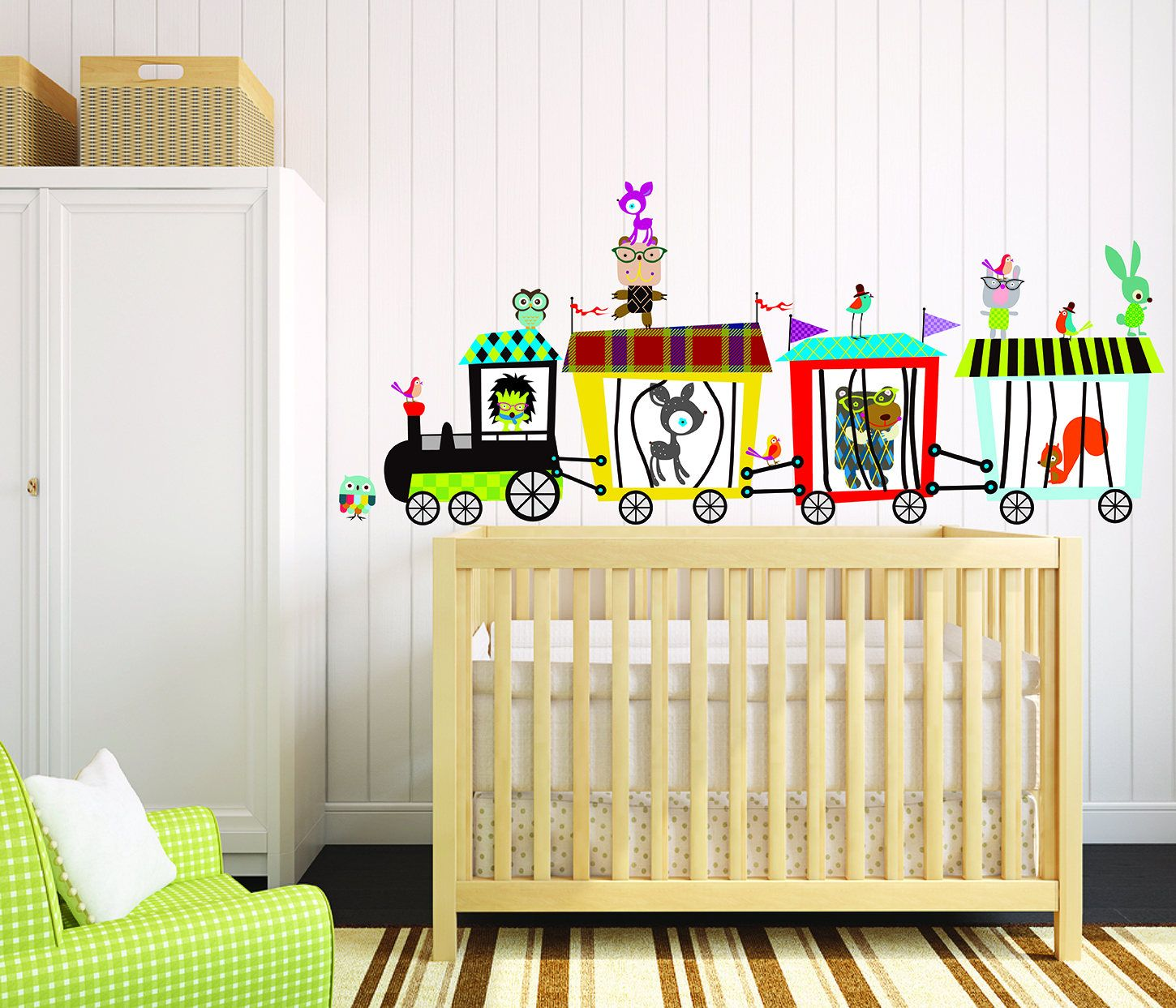 Circus Train Wall Decal - Animals Train Decal - Kids Room Decals ...