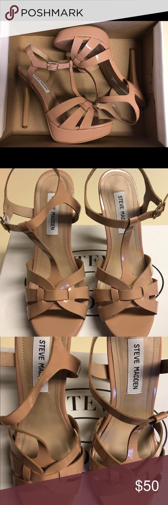 c85e05e09ed NIB Steve Madden KADRI Nude Platform Sandals Brand: Steve Madden ...