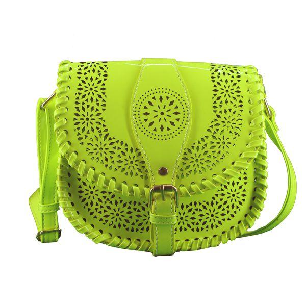 Moda amarillo bandolera Bolsos en perforado bolso charol MaryPaz YR5np8